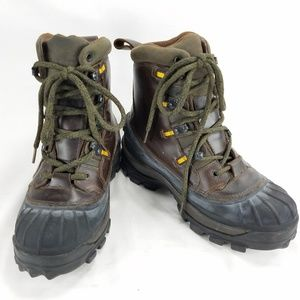 LL Bean Leather Thinsulate Duck Mens Boots Sz 8 M